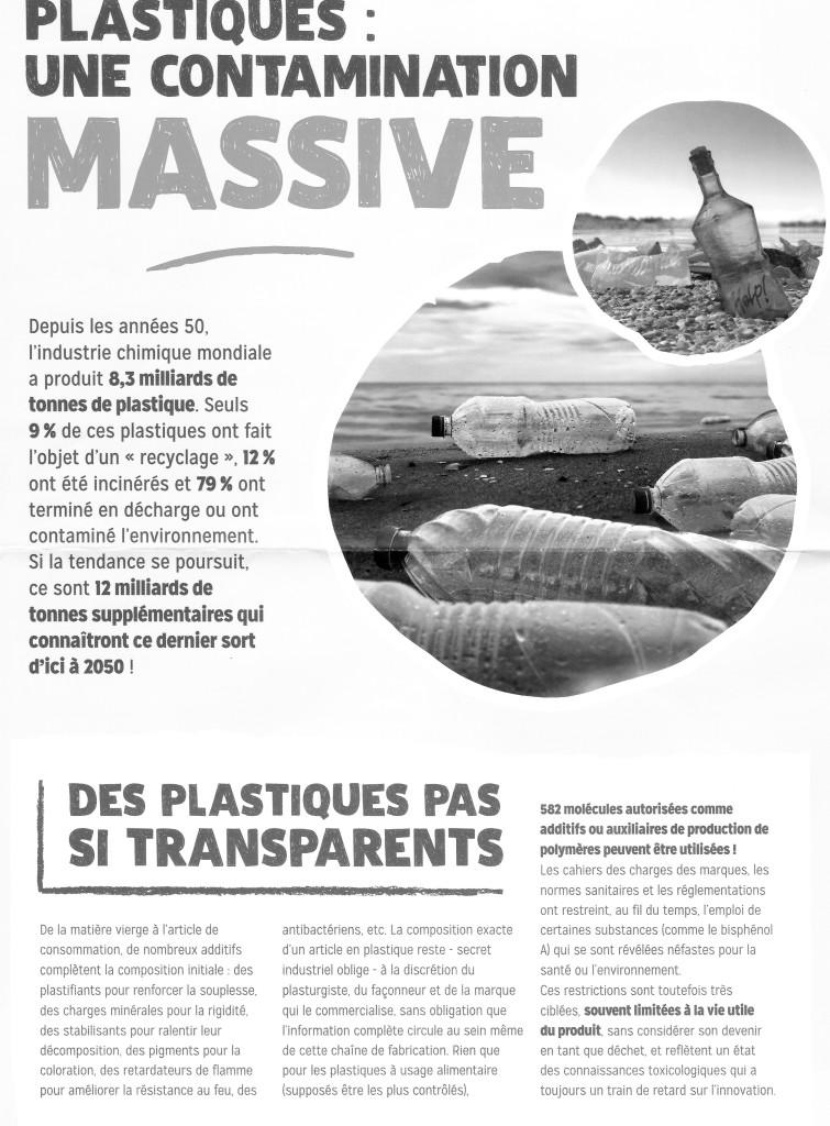 """Campagne plastiques: une bouteille à la mer  """"Agir pour l'environnement"""""""